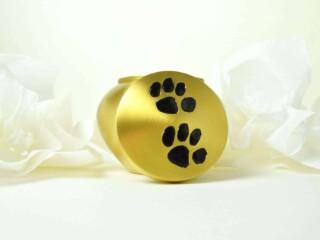 golden dog urn
